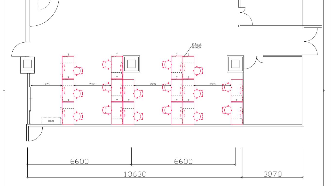 レンタルデスクスペースのリニューアル ~パーティション工事とオフィスチェアの入替~