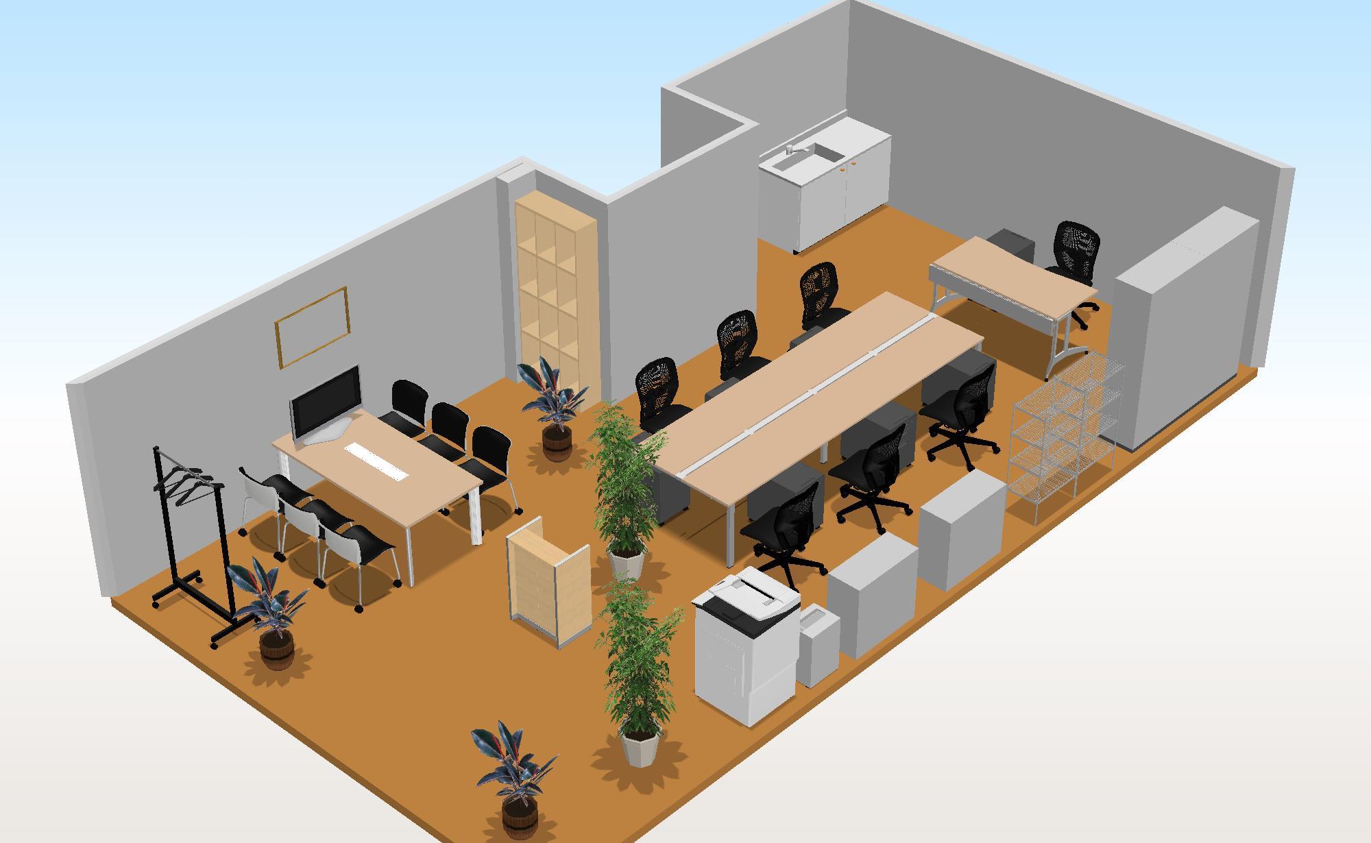 オフィス移転~新規什器+既存什器でレイアウト~